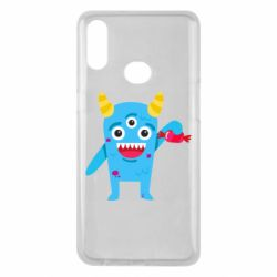 Чехол для Samsung A10s Monster with a candy
