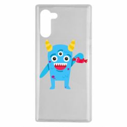 Чехол для Samsung Note 10 Monster with a candy