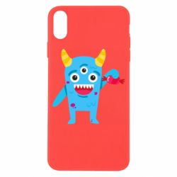 Чехол для iPhone X/Xs Monster with a candy