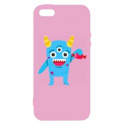 Чехол для iPhone5/5S/SE Monster with a candy