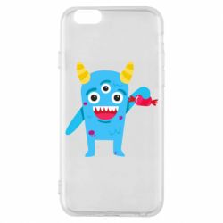 Чехол для iPhone 6/6S Monster with a candy