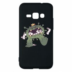 Чохол для Samsung J1 2016 Monster with a crown and paper