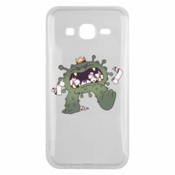 Чохол для Samsung J5 2015 Monster with a crown and paper