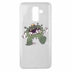 Чохол для Samsung J8 2018 Monster with a crown and paper