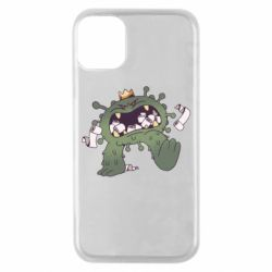 Чохол для iPhone 11 Pro Monster with a crown and paper