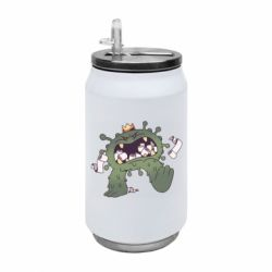 Термобанка 350ml Monster with a crown and paper