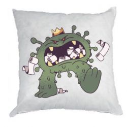 Подушка Monster with a crown and paper