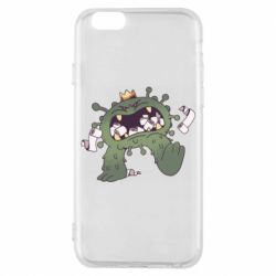 Чохол для iPhone 6 Monster with a crown and paper