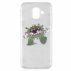Чохол для Samsung A6 2018 Monster with a crown and paper