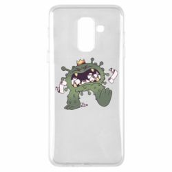 Чохол для Samsung A6+ 2018 Monster with a crown and paper