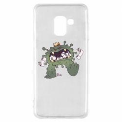 Чохол для Samsung A8 2018 Monster with a crown and paper