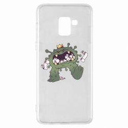 Чохол для Samsung A8+ 2018 Monster with a crown and paper