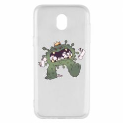 Чохол для Samsung J5 2017 Monster with a crown and paper