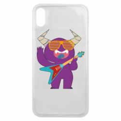 Чехол для iPhone Xs Max Monster with guitar