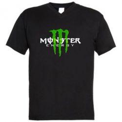 Мужская футболка  с V-образным вырезом Monter Energy Classic - FatLine