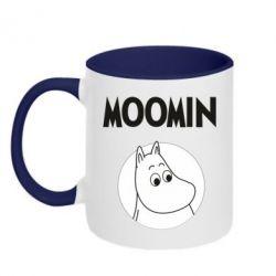 Кружка двоколірна 320ml Moomin