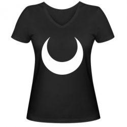 Жіноча футболка з V-подібним вирізом Moon Sailor Moon