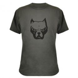 Камуфляжная футболка Морда питбуль