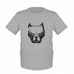 Детская футболка Морда питбуль