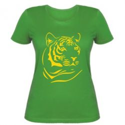 Женская футболка Морда тигра