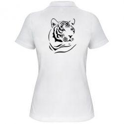 Женская футболка поло Морда тигра - FatLine