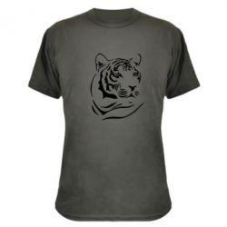 Камуфляжна футболка Морда тигра