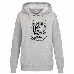 Женская толстовка Морда тигра - FatLine