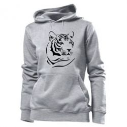 Женская толстовка Морда тигра