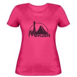 Женская футболка Mordor (Властелин Колец) - FatLine