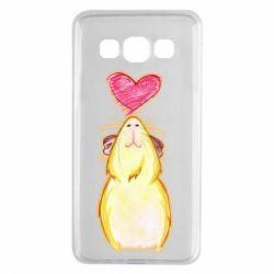 Чохол для Samsung A3 2015 Морська свинка і сердечко