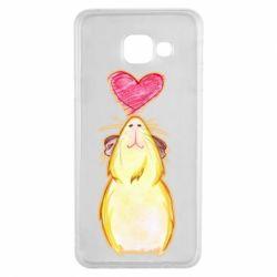 Чохол для Samsung A3 2016 Морська свинка і сердечко