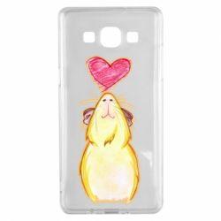 Чохол для Samsung A5 2015 Морська свинка і сердечко