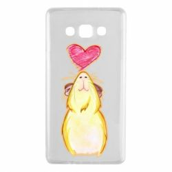 Чохол для Samsung A7 2015 Морська свинка і сердечко