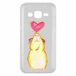 Чохол для Samsung J2 2015 Морська свинка і сердечко