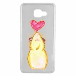 Чохол для Samsung A7 2016 Морська свинка і сердечко