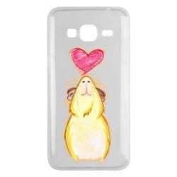 Чохол для Samsung J3 2016 Морська свинка і сердечко