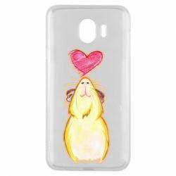 Чохол для Samsung J4 Морська свинка і сердечко