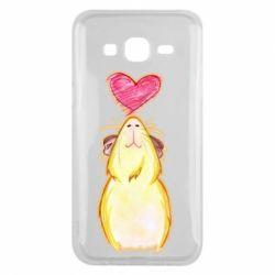Чохол для Samsung J5 2015 Морська свинка і сердечко