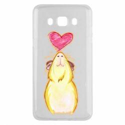 Чохол для Samsung J5 2016 Морська свинка і сердечко