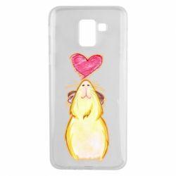 Чохол для Samsung J6 Морська свинка і сердечко
