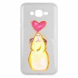 Чохол для Samsung J7 2015 Морська свинка і сердечко