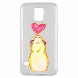 Чохол для Samsung S5 Морська свинка і сердечко