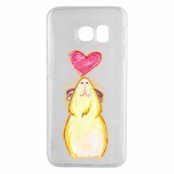 Чохол для Samsung S6 EDGE Морська свинка і сердечко