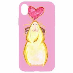 Чохол для iPhone XR Морська свинка і сердечко