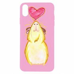 Чохол для iPhone Xs Max Морська свинка і сердечко
