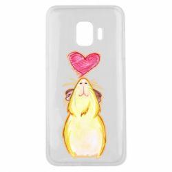 Чохол для Samsung J2 Core Морська свинка і сердечко