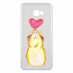 Чохол для Samsung J4 Plus 2018 Морська свинка і сердечко