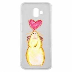 Чохол для Samsung J6 Plus 2018 Морська свинка і сердечко