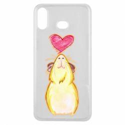 Чохол для Samsung A6s Морська свинка і сердечко