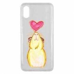 Чохол для Xiaomi Mi8 Pro Морська свинка і сердечко